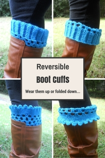 Crochet Reversible Boot Cuffs-perfect for Christmas Gifts or Stocking Stuffers