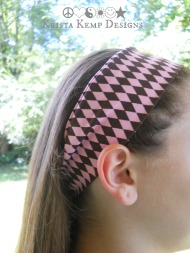 Chocolate Brown/Baby Pink Hair Scarf-Perfect for the young lady in your life