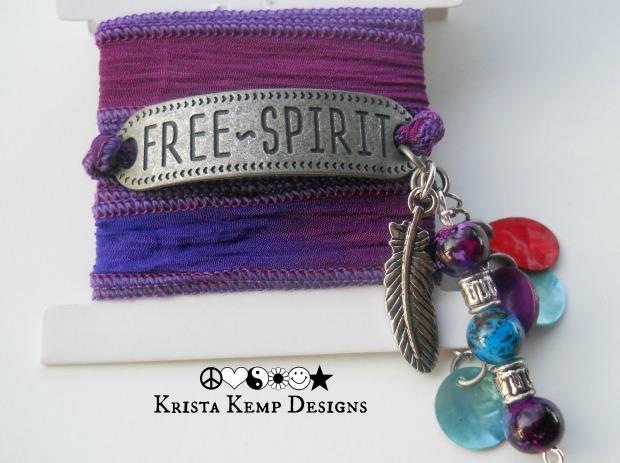 Free Spirit Silk Ribbon Bracelet